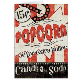 Retro Popcorn Card