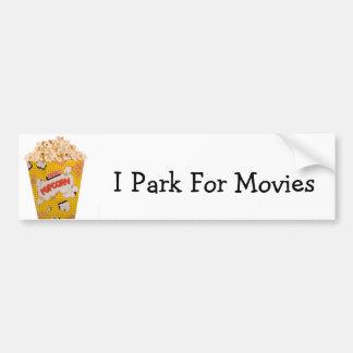 Retro Popcorn - Color Bumper Sticker