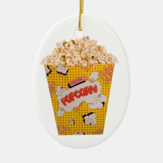 Retro Popcorn - Color Ceramic Ornament