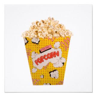 Retro Popcorn - Color 5.25x5.25 Square Paper Invitation Card
