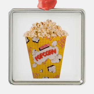 Retro Popcorn - Color Metal Ornament