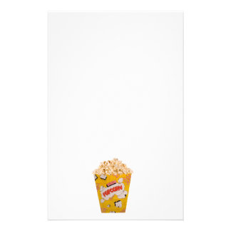 Retro Popcorn - Color Personalized Stationery