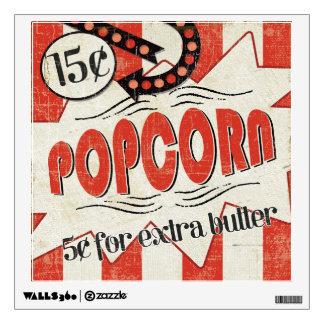 Retro Popcorn Wall Skin