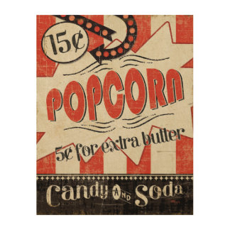 Retro Popcorn Wood Prints