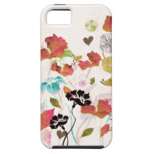 Retro poppies Case-Mate Case iPhone 5 Covers