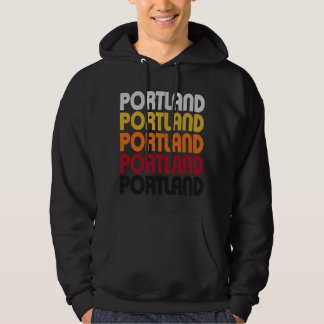 Retro Portland Hooded Pullover Sweatshirt