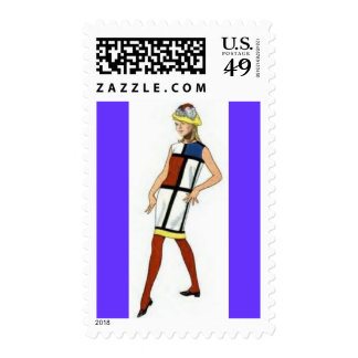Retro Postage ~ 60s Colorblock Fashion Stamps
