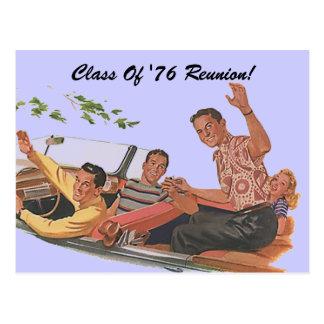 Retro Postcard Class Reunion Friends Classmates