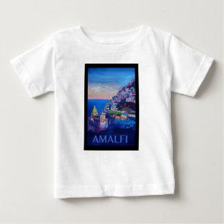 Retro Poster Amalfi Coast italy Baby T-Shirt