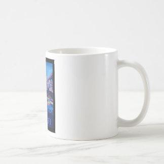 Retro Poster Amalfi Coast italy Coffee Mug