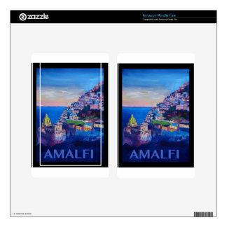 Retro Poster Amalfi Coast italy Kindle Fire Decals