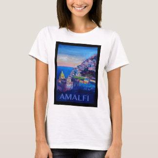 Retro Poster Amalfi Coast italy T-Shirt