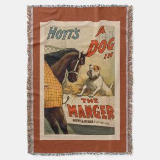 """Retro Poster """"Dog In the Manger"""" Blanket"""