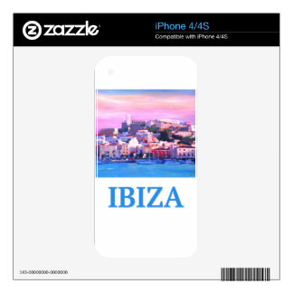 Retro Poster Ibiza Old Town and Harbour Skin For iPhone 4
