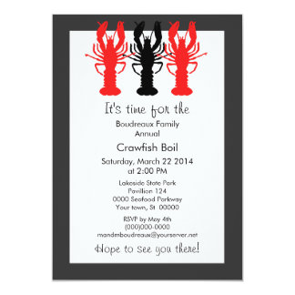 Retro Poster Style Crawish / Lobster Boil 5x7 Paper Invitation Card