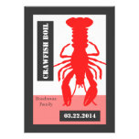 Retro Poster Style Crawish / Lobster Boil Invitations