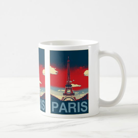 retro poster Vintage France Paris Effiel Tower Coffee Mug