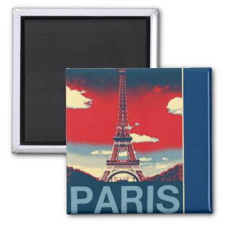 retro poster Vintage France Paris Effiel Tower Magnet