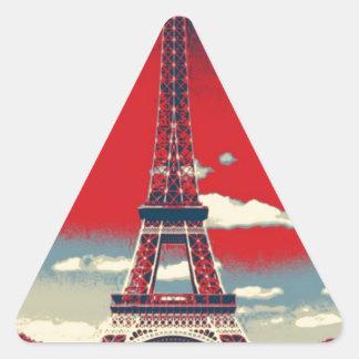 retro poster Vintage France Paris Effiel Tower Triangle Sticker