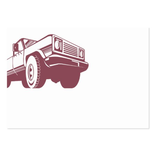 Retro posterior de la camioneta pickup plantilla de tarjeta de visita