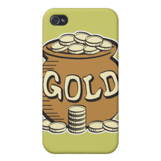 retro pot of gold case for iPhone 4