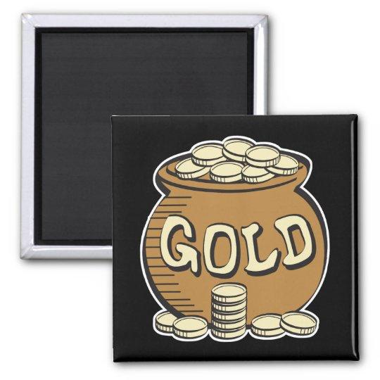 retro pot of gold magnet