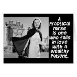 RETRO PRACTICAL  NURSE - HUMOR -  LPN CARD