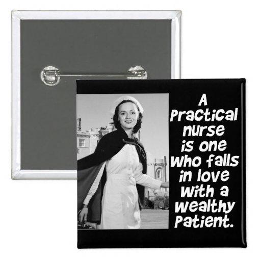 RETRO PRACTICAL  NURSE - HUMOR -  LPN PIN