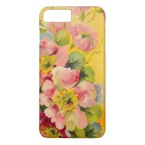 Retro Primeroses Elegant Floral Pattern iPhone 7 Plus Case
