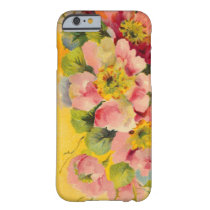 Retro Primeroses Floral Barely There iPhone 6 Case