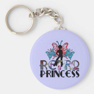 Retro Princess - Disco Girl Butterfly Fairy Keychain