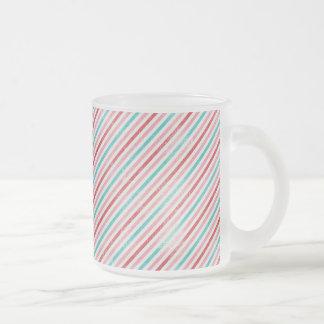Retro Print 10 oz Frosted Glass Mug