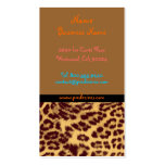 Retro profile cards leopard print Double-Sided standard business cards (Pack of 100)