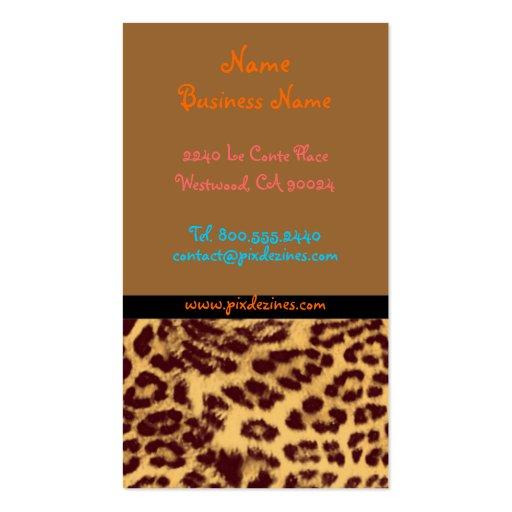 Leopard print business card templates page7 bizcardstudio retro profile cards leopard print business card templates reheart Image collections