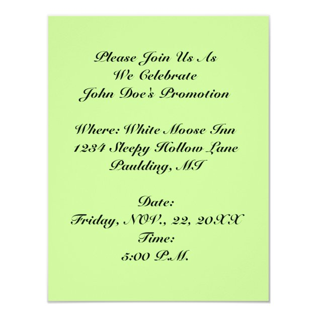 Retro Promotion Or Off To New Job Party Invitation Zazzle