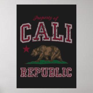 Retro Property of Cali Flag Poster