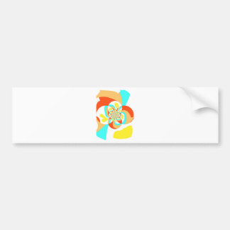 Retro Psychedelic Abstract design Bumper Sticker