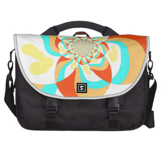 Retro Psychedelic Abstract design Laptop Bags