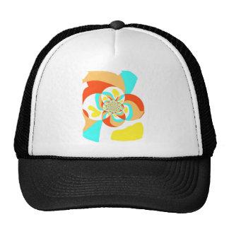 Retro Psychedelic Abstract design Trucker Hat