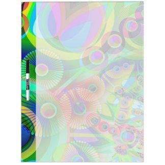 Retro Psychedelic Abstract Dry Erase Board