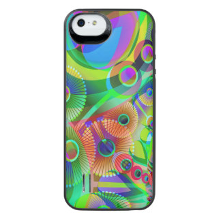 Retro Psychedelic Abstract iPhone SE/5/5s Battery Case
