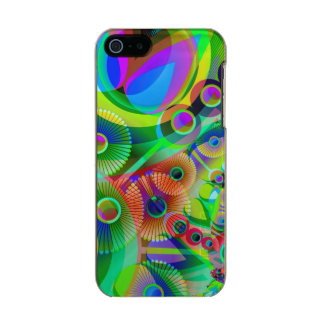 Retro Psychedelic Abstract Metallic Phone Case For iPhone SE/5/5s