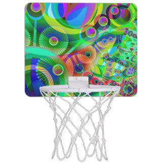 Retro Psychedelic Abstract Mini Basketball Backboard