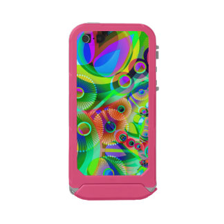 Retro Psychedelic Abstract Waterproof Case For iPhone SE/5/5s