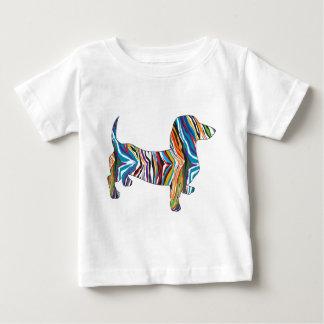 Retro Psychedelic Dachshund Baby T-Shirt