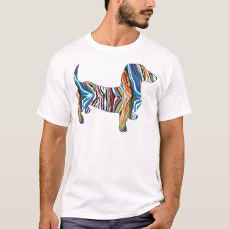 Retro Psychedelic Dachshund T-Shirt
