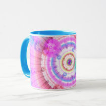 Retro Psychedelic Fractal Coffee Mug