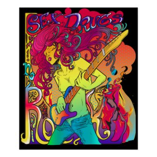 retro psychedelic music poster