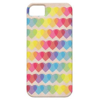 Retro Psychedelic Rainbow Hearts iPhone SE/5/5s Case