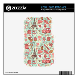 Retro punk in paris goofy pattern. iPod touch 4G decal